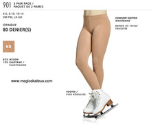MONDOR STYLE: 00901 2 pair pack footed tights, size 6-10