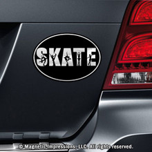 FIGURE SKATE WORD CAR MAGNET