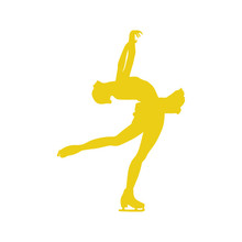 FIGURE SKATER WINDOW DECAL, LAYBACK