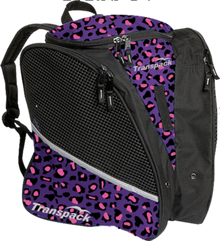 Transpack Back Pack Bag - Purple Leopard