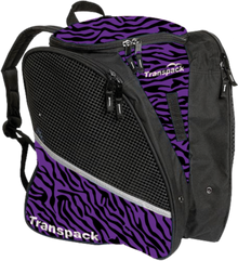 Transpack Back Pack Bag - Purple/Black Zebra