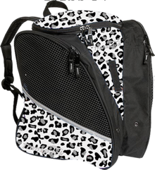 Transpack Back Pack Bag - White/Gray Leopard