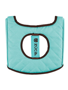 SEAT CUSHION, TURQUOISE/BROWN