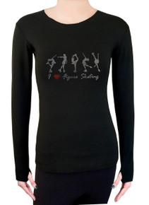 Long Sleeve Shirt with Rhinestones R224