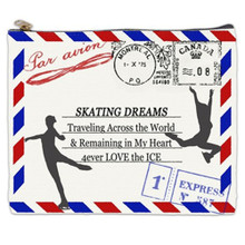 POSTCARD SKATING COSMETIC BAG (Makeup case)