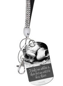 ATHLETE ARTIST SKATING CRYSTAL KEYCHAIN