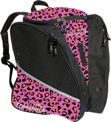 Transpack Back Pack Bag - Pink/Orange Leopard