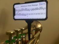 MobileLyre iPhone X case on MobileLyre trumpet lyre