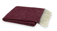 DEEP MERLOT ITALIAN HERRINGBONE THROW