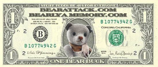 Bear Bucks are available for this Steiff product at Bearly A Memory or Bear Attack
