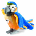 EAN 063879 Steiff plush Lori parrot, blue/yellow