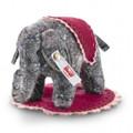 EAN 006586 Steiff non-woven fabric Uli little elephant designer's choice, gray/multicolored
