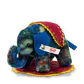 EAN 006715 Steiff mohair Mara designer's choice little elephant, multi colored