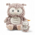 EAN 241840 Steiff plush soft cuddly friends Ollie owl music box, rose brown