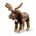 EAN 069178 Steiff woven fur Edvin elk, brown