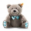 EAN 113741 Steiff plush soft cuddly friends Boris Teddy bear, gray brown
