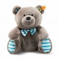 EAN 113758 Steiff plush soft cuddly friends Boris Teddy bear, gray brown