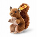 EAN 033001 Steiff mohair Wildlife squirrel in gift box, brown