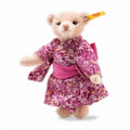 EAN 026799 Steiff mohair great escapes Tokyo Teddy bear in gift box, pink