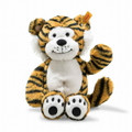 EAN 066139 Steiff plush soft cuddly friends Toni tiger, striped orange/black