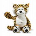 EAN 066146 Steiff plush soft cuddly friends Toni tiger, striped orange/black