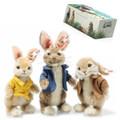 EAN 355622 Steiff mohair Peter rabbit Gift Set, multicolored