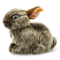 EAN 024368 Steiff woven fur Vula volcano rabbit National Geographic, gray-brown tipped