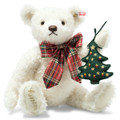 EAN 006906 Steiff mohair Christmas Teddy bear with music box, white