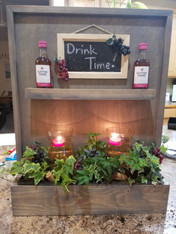 Spice Rack Wall Planter- Barnwood