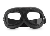 Aviator Goggles - Black/Black - Clear Lens