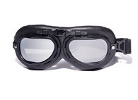 Aviator Goggles - Black/Black - Mirrored Lens