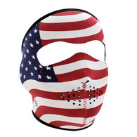 ZAN Headgear Neoprene Motorcycle Full Mask with American Flag Stars & Stripes design
