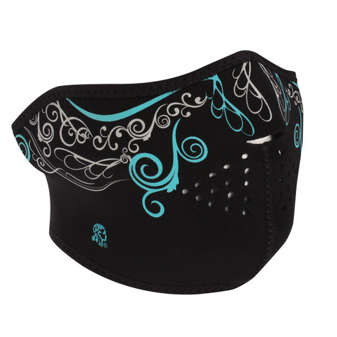 Zan Neoprene Half Mask in Glow in the Dark Venetian Graphics - Overview