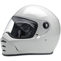 Biltwell Lane Splitter Full Face Helmet in Gloss White - Overview