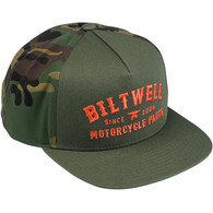 Biltwell Patrol Trucker Hat - Camo/Orange - Overview