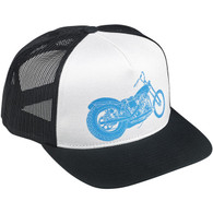 Biltwell Swingarm Trucker Hat - Black/White