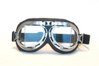 Aviator Goggles - Chocolate/Chrome - Clear Lens