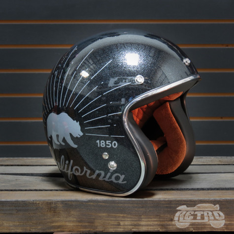 Torc T50 Grizzly Black Flake Moto Helmet - Overview