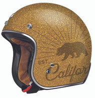 Torc T50 Grizzly Gold Flake Moto Helmet