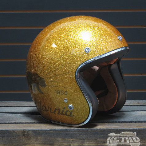 Torc T50 Grizzly Gold Flake Moto Helmet - Overview