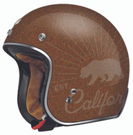 "Torc 3/4 Moto Helmet ""Grizzly"" in Rootbeer Flake"