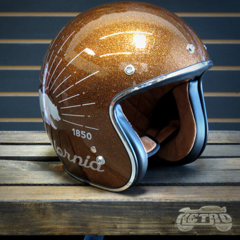 """Torc 3/4 Moto Helmet """"Grizzly"""" in Rootbeer Flake - Overview"""