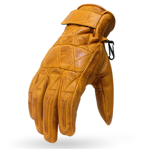 Torc Silver Lake Motorcycle Gloves in Gold Leather