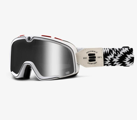 100% Barstow Motorcycle Goggles in Death Spray - Side View