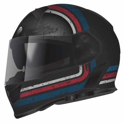 Torc T-14 DOT-Approved Full Face Motorcycle Helmet with StreamLine Graphics in Red and Blue