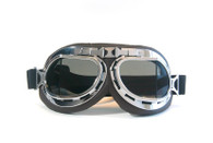 RBG Aviator Goggles in Chocolate with Chrome trim and Smoke Lens