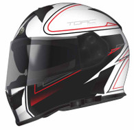 Torc T-14 DOT-Approved Full Face Motorcycle Helmet with Stryker Graphics in White - Overview