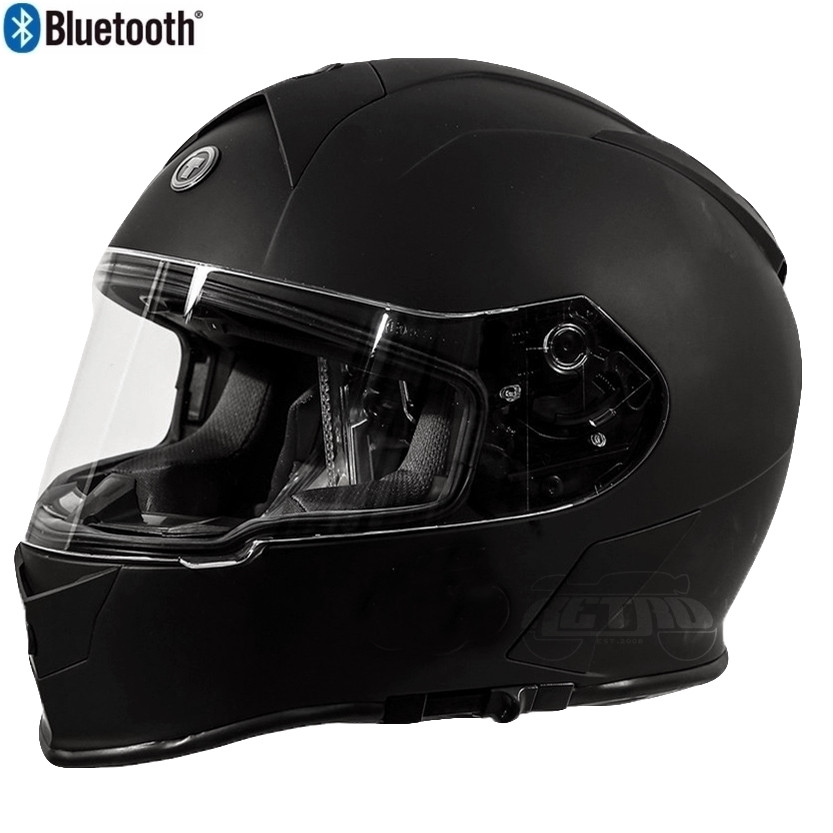 62538d9d Torc T-14 Full Face Helmet with Blinc Bluetooth in Flat Black - Overview.  Click to enlarge