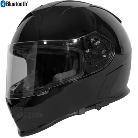 Torc T-14 Full Face Helmet with Blinc Bluetooth in Gloss Black - Overview