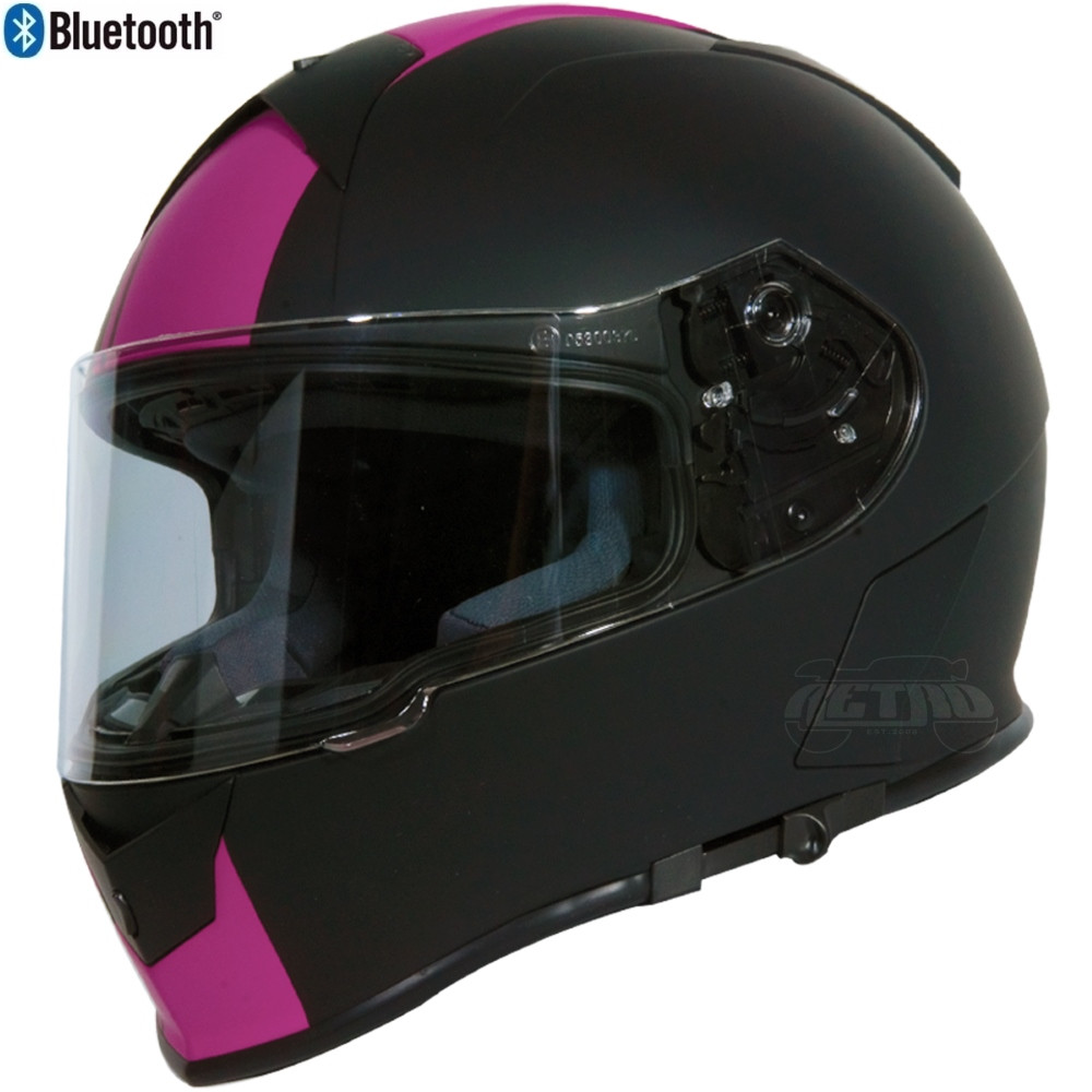 Torc T 14 Full Face Helmet W Blinc Bluetooth Ss Pink